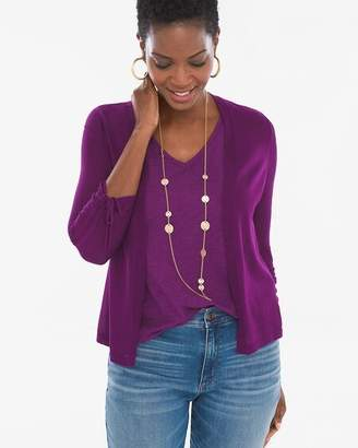 Chico's Chicos Ruched-Sleeve Cardigan