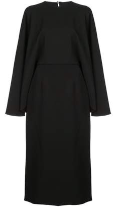 Sara Battaglia Cape-Style Midi Dress