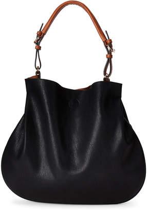Street Level Black Snap Shoulder Bag