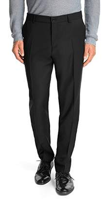 Esprit Men's 993EO2B902 COMF Wool Relaxed Suit Trousers,30R