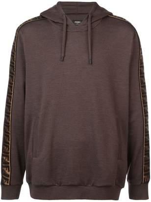 Fendi FF side stripe hoodie