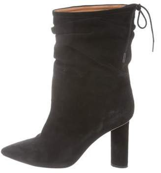 IRO Suede Ruched Boots Black Suede Ruched Boots