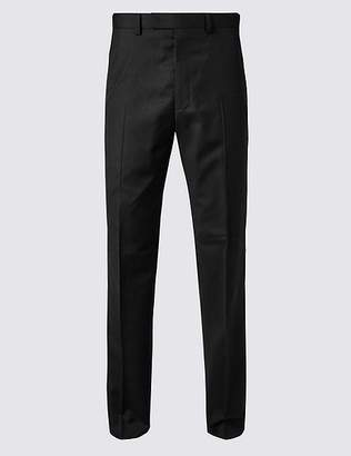 Marks and Spencer Black Tailored Fit Wool Trousers