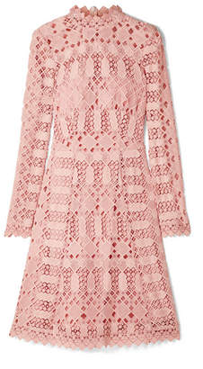 Temperley London Amelia Guipure Lace Dress - Blush