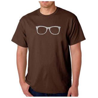 LOS ANGELES POP ART Los Angeles Pop Art Sheik To Be Geek Short SleeveWord Art T-Shirt-Men's Big and Tall