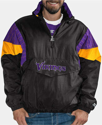 Starter Men's Minnesota Vikings Drop Back Nylon Front Zip Pullover Jacket
