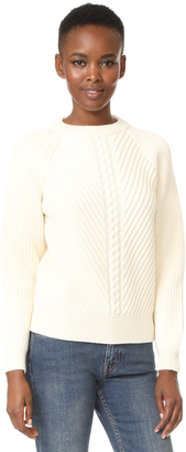 Belstaff Shandi Clean Merino Wool Cable Sweater $550 thestylecure.com