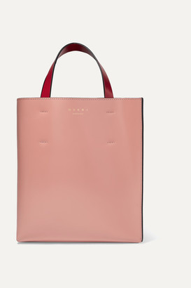 Marni Museo Small Color-block Leather Tote - Pink
