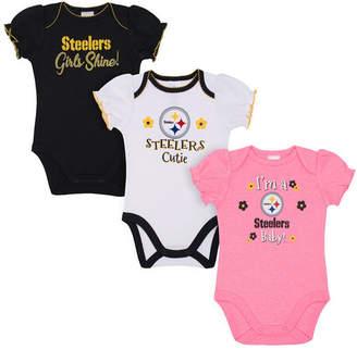 Gerber Pittsburgh Steelers 3 Pack Creeper Set, Infants (0-9 Months)