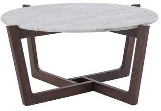 White Marble Monterey Coffee Table