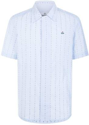 Vivienne Westwood Floral Stripe Short Sleeve Shirt