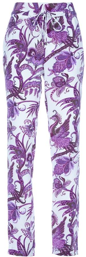 Gucci printed silk trouser
