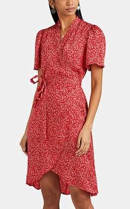d5d4c1518d5 By Ti Mo byTiMo Women s Blot-Print Satin Wrap Dress - Red