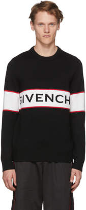 Givenchy Black Intarsia Logo Sweater