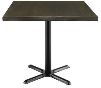 "LOFT Kfi KFI Urban 36"" Square Vintage Wood Breakroom Table, Espresso"