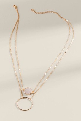 francesca's Shiloh Semi Precious Layered Necklace - Blush