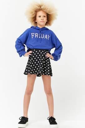 Forever 21 Girls Chiffon Polka Dot Skirt (Kids)