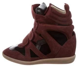 Isabel Marant Suede Beckett Wedge Sneakers