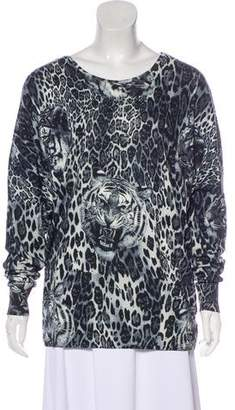 Philipp Plein Animal Print Stud-Accented Sweater