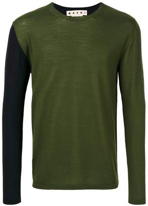 Marni two tone crew neck sweater