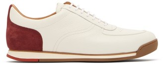 John Lobb Porth Low Top Leather Trainers - Mens - White Multi