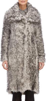 Transit Par Such Wool Textured Long Coat