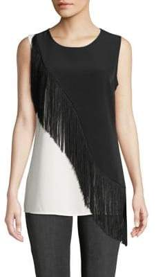 Calvin Klein Fringe Colourblock Sleeveless Top