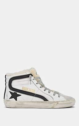Golden Goose Women's Slide Leather & Shearling Sneakers - White