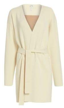 Loewe Belted Wool& Cashmere Knit Coat