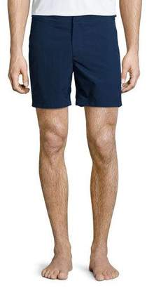 Orlebar Brown Bulldog Solid Swim Trunks, Navy $240 thestylecure.com
