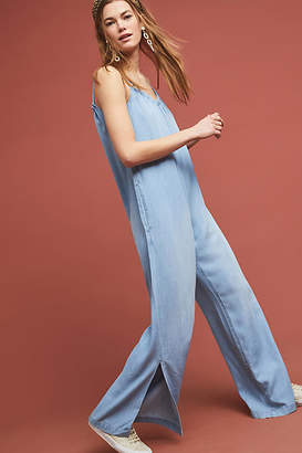 2b256e642f5 Cloth   Stone Chambray Wide-Leg Jumpsuit