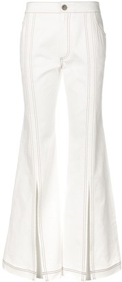 Chloé contrast stitching flared jeans