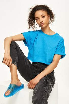 Topshop Cut Off Cropped T-Shirt