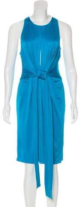 Issa Knee-Length Draped-Accented Dress
