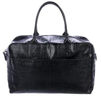 Alaia Embossed Handle Bag