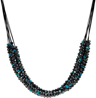 American West Hematite & Turquoise Bead 10 Strand Necklace