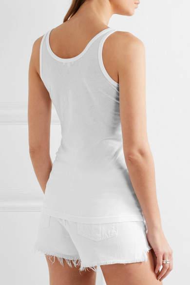 Splendid Cotton And Modal-blend Jersey Tank - White