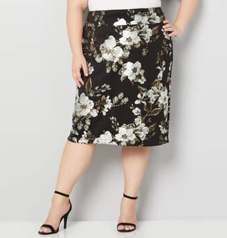 Avenue Metallic Floral Scuba Skirt