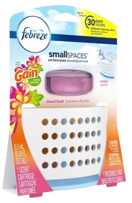 Febreze Small Spaces with Gain Island Fresh Scent Starter Kit Air Freshener - 1ct 5.5ml
