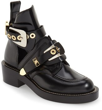 Women's Balenciaga Cutout Buckle Boot $1,275 thestylecure.com