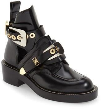 Women's Balenciaga Cutout Buckle Boot $1,275 thestylecure.com