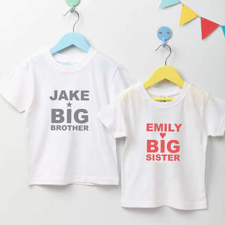 5f220d12e31 TillieMint Child s Personalised Big Brother Or Sister T Shirt