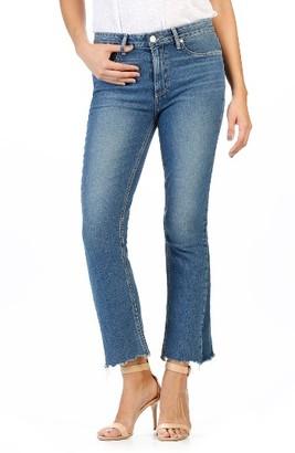 Women's Paige Legacy Colette High Rise Raw Hem Crop Flare Jeans $269 thestylecure.com