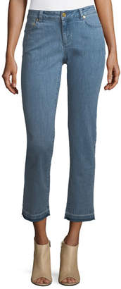 MICHAEL Michael Kors Released-Hem Cropped Jeans