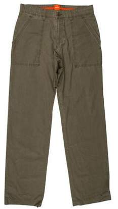 HUGO BOSS Boss by Flat Front Cargo Pants olive Boss by Flat Front Cargo Pants