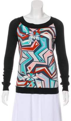 Emilio Pucci Bateau Neckline Geometric Print Sweater