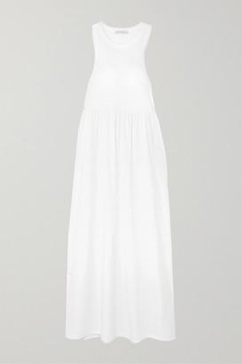 Ninety Percent + Net Sustain Organic Cotton-jersey Maxi Dress - White