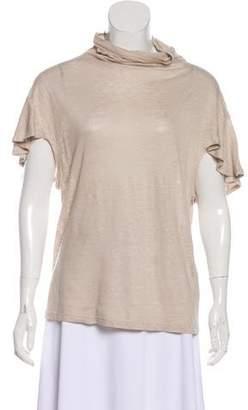 IRO Linen Cap Sleeve Top