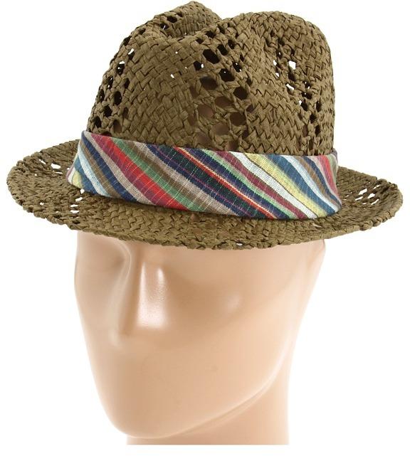 San Diego Hat Company PBF4222 Straw Fedora (Brown) - Hats