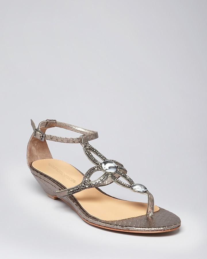 Badgley Mischka Exotic Wedge Sandals - Coye